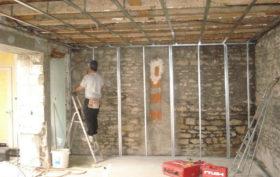 Poser un mur en placoplâtre