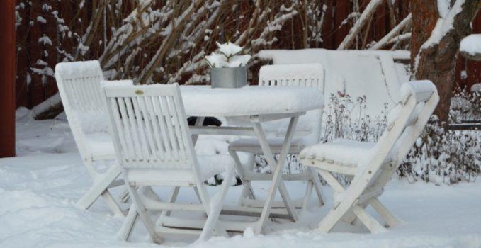 mobilier de jardin en hiver