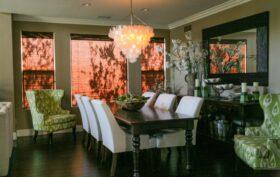 un lustre décoratif table à manger