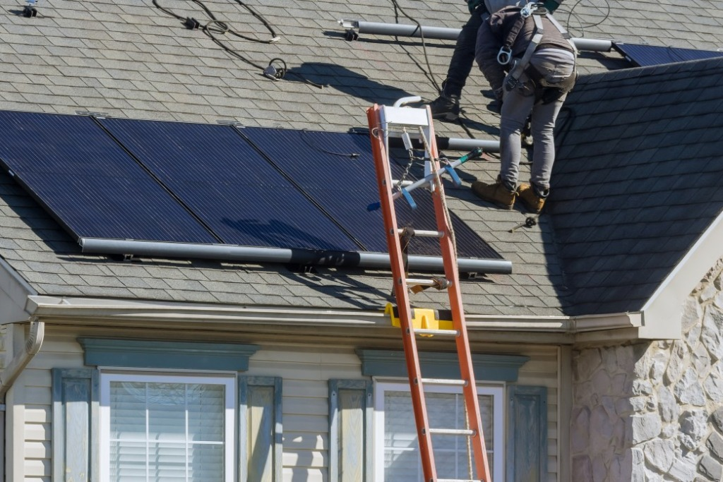 utilisation de panneaux solaires